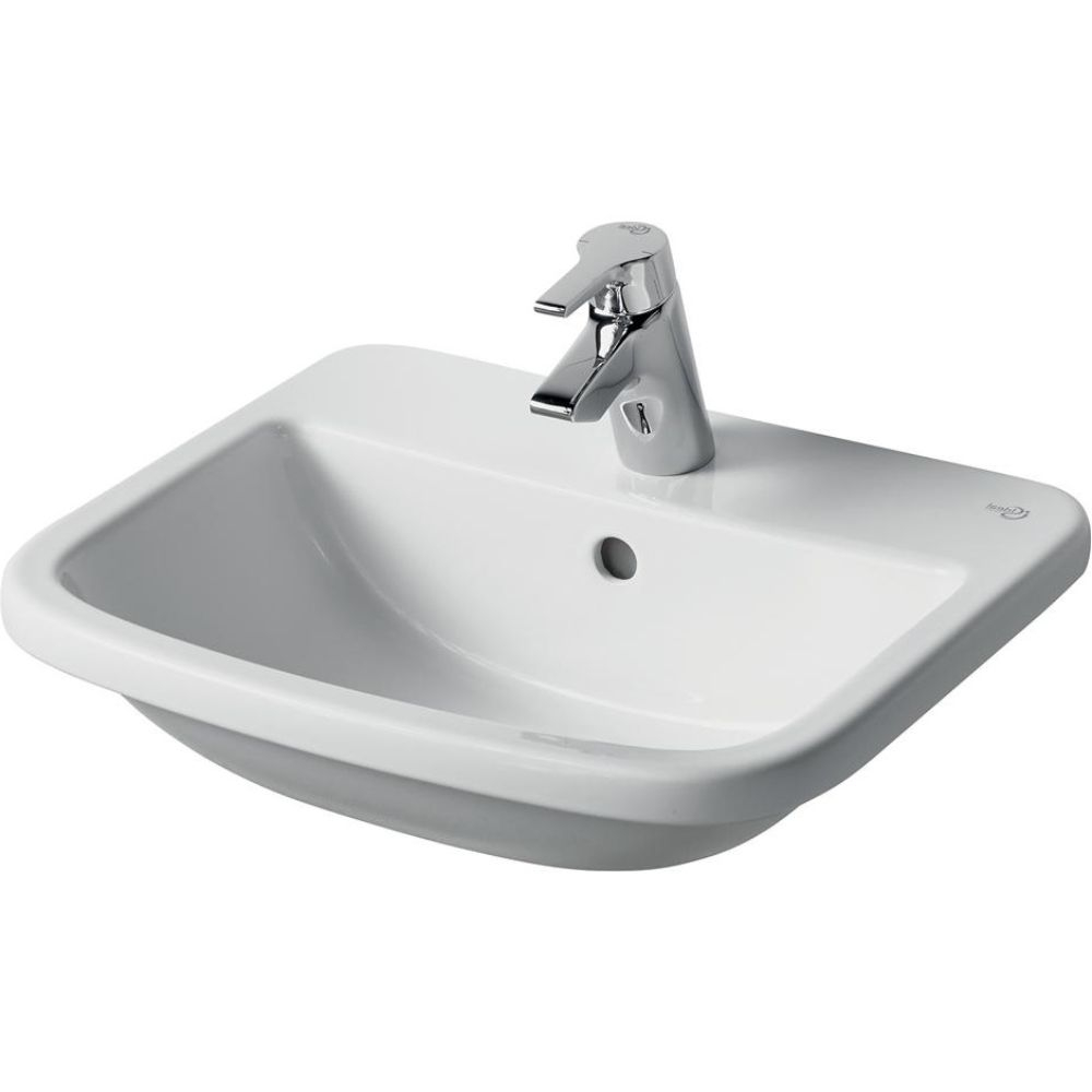 Ideal Standard Tempo Countertop Washbasin 500mm Wide 1 Tap Hole