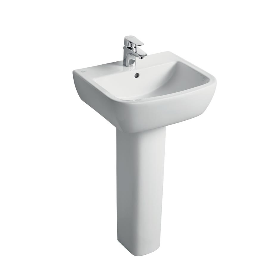 Ideal Standard Tempo Value Suite Close Coupled Toilet 1 Tap Hole Basin White-1