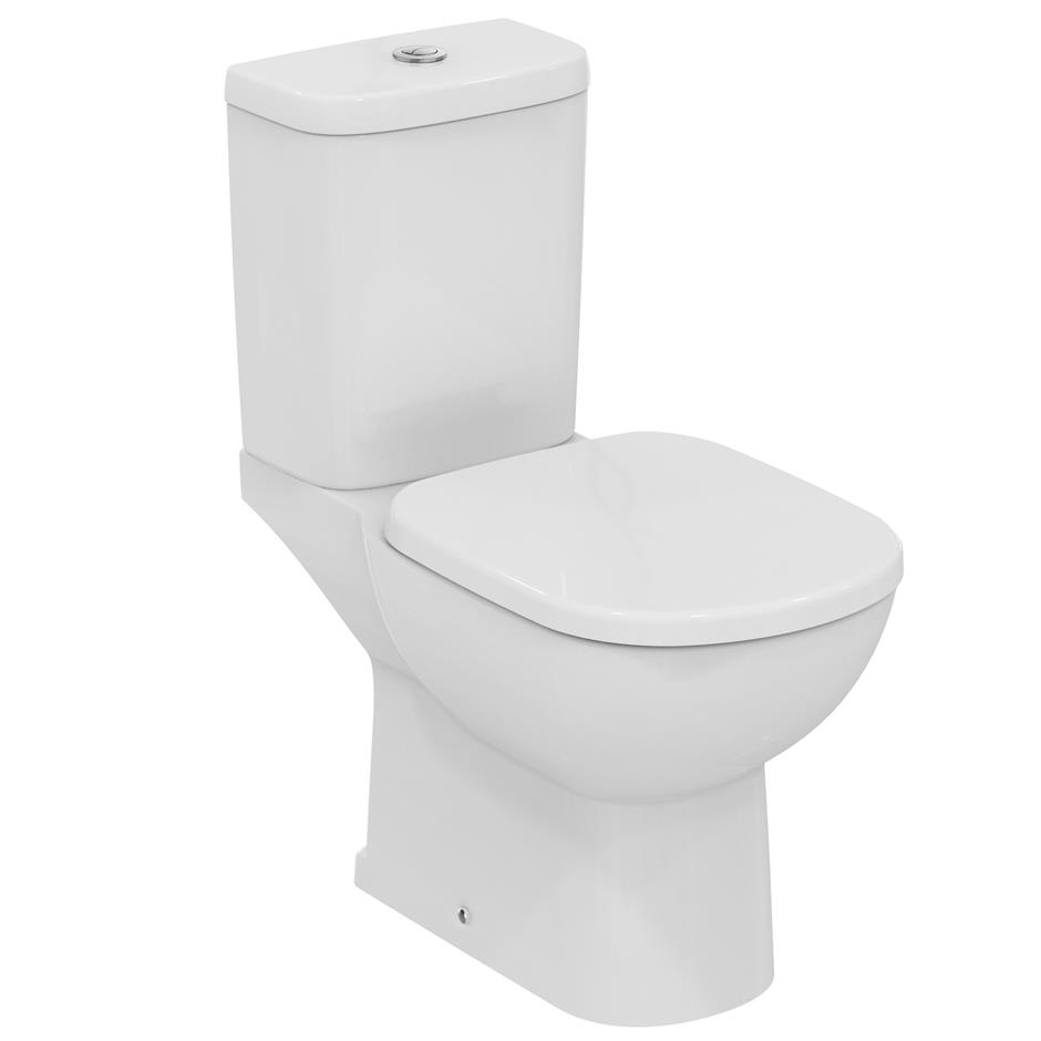 Ideal Standard Tempo Value Suite Close Coupled Toilet 2 Tap Hole Basin White-1