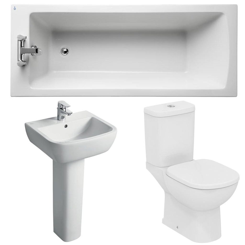 Ideal Standard Tempo Modern Bathroom Suite 1 White-7