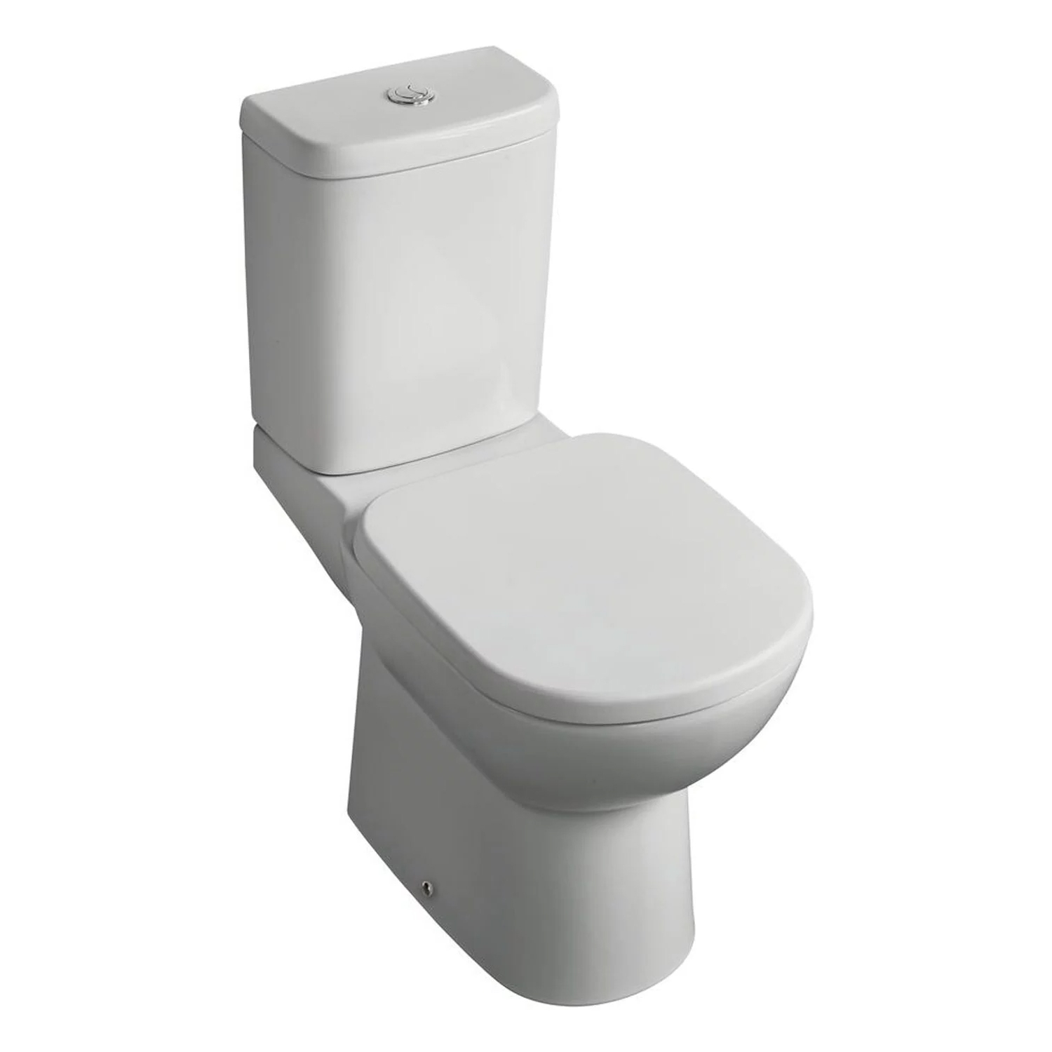 Ideal Standard Tempo Value Suite Horizontal Outlet Close Coupled Toilet 2 Tap Hole Basin - White-1