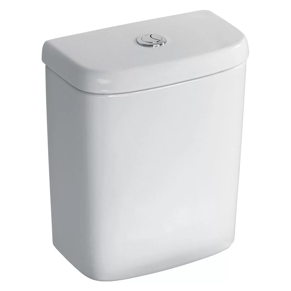 Ideal Standard Tempo Value Suite Horizontal Outlet Close Coupled Toilet 2 Tap Hole Basin - White-2