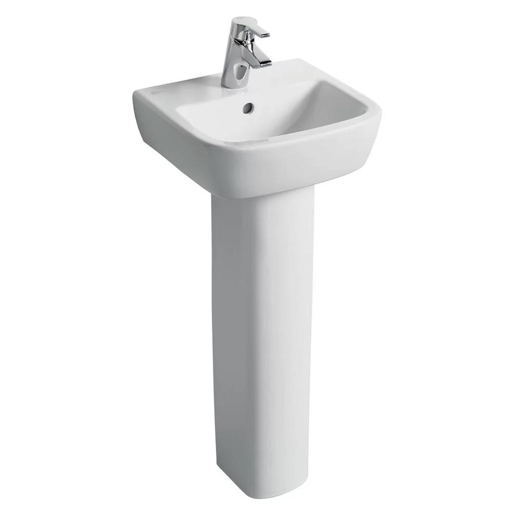 Ideal Standard Tempo Bathroom Cloakroom Suite Horizontal Pan 1 Tap Basin - White-0
