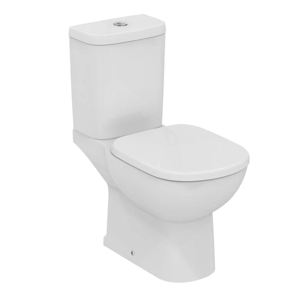 Ideal Standard Tempo Bathroom Cloakroom Suite Horizontal Pan 1 Tap Basin - White-2
