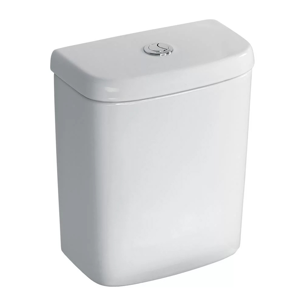 Ideal Standard Tempo Bathroom Cloakroom Suite Horizontal Pan 1 Tap Basin - White-3