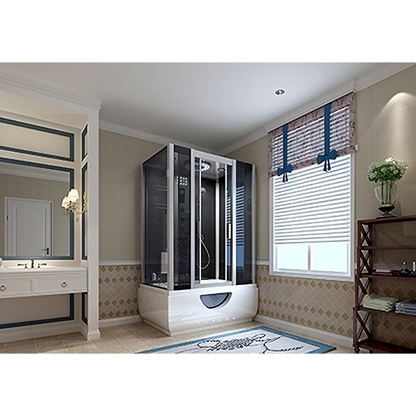 Insignia Steam Shower Cabin, 1650mm Wide, Mirrored