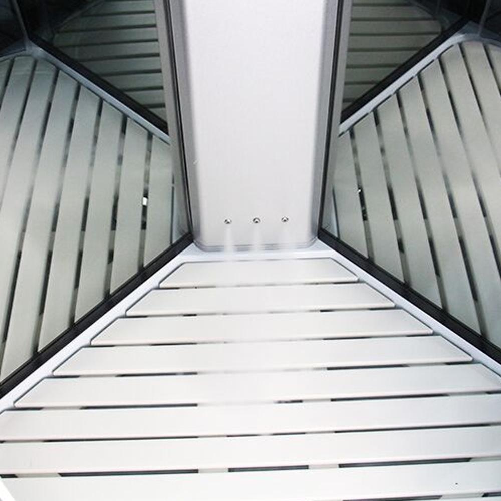 Insignia Steam Quadrant Shower Cabin, 900mm Wide, Mirrored
