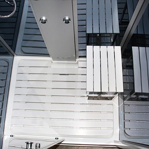 Insignia Steam Shower Cabin, 1100mm Wide, Mirrored