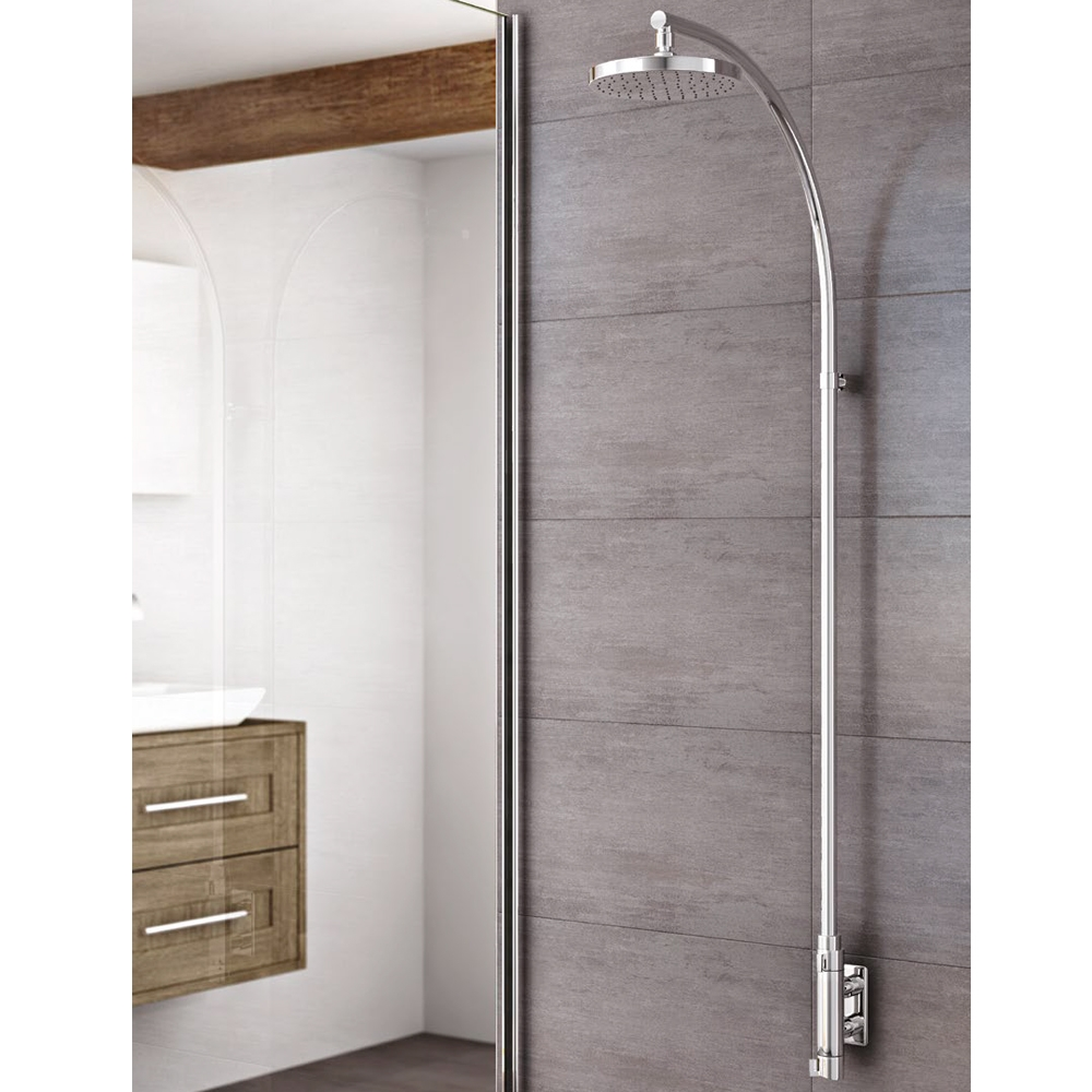 Inta City Espa Complete Thermostatic Vertical Bar Shower & Fixed Riser Kit - Chrome