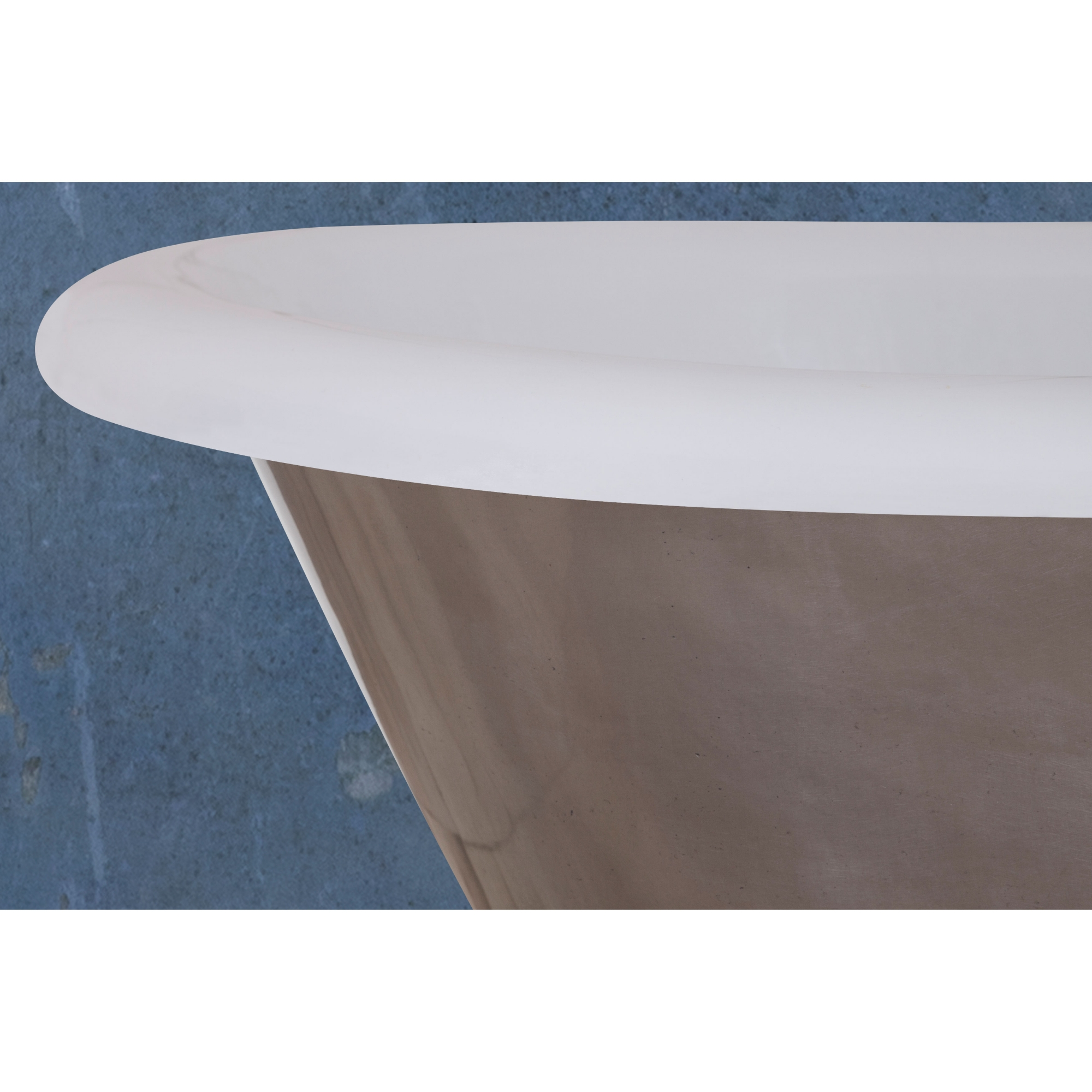 Jig Montreal Cast Iron Roll Top Plinth Bath Polished - 0 Tap Hole-0