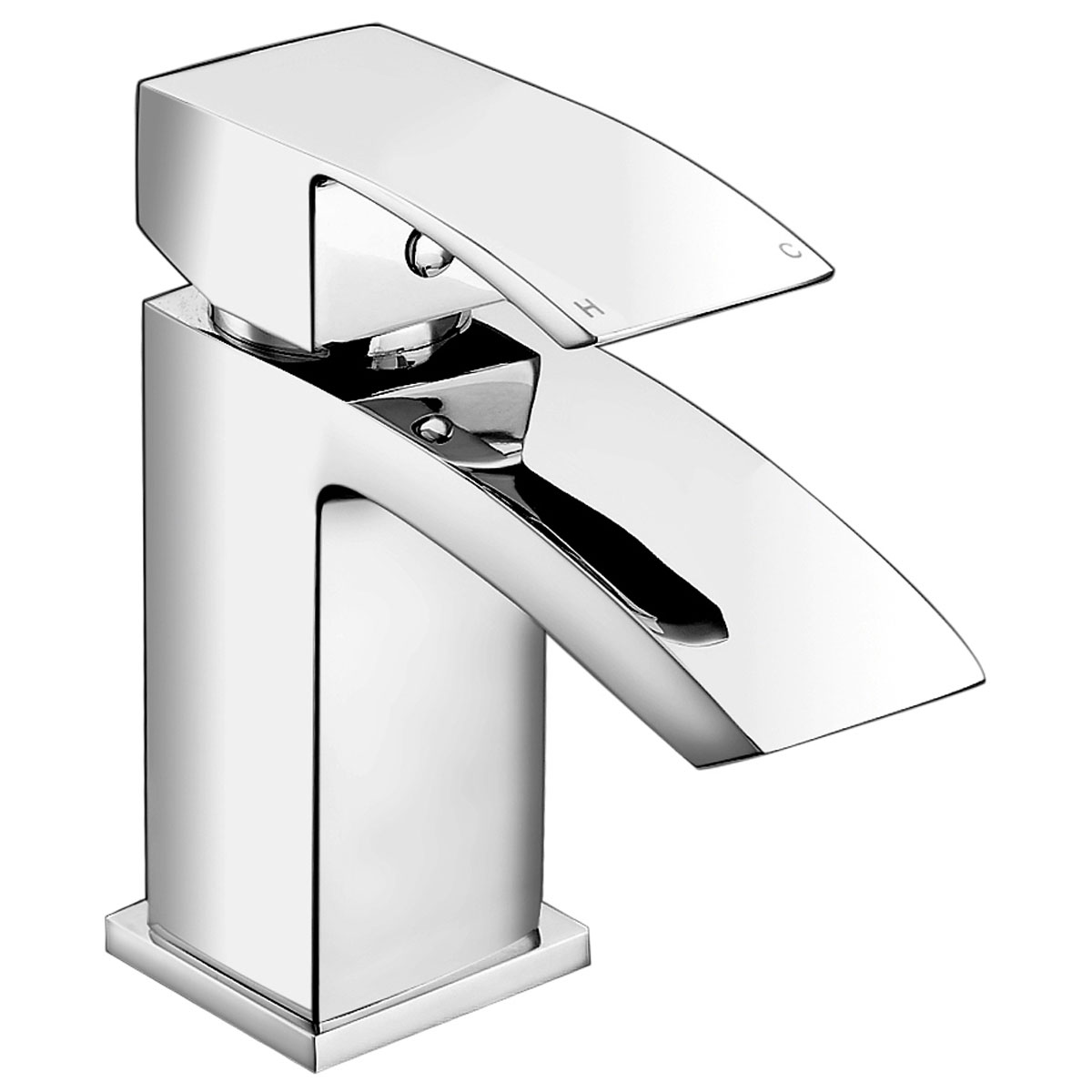 JTP Dash Basin Mixer Tap with Click Clack Waste Single Handle - Chrome