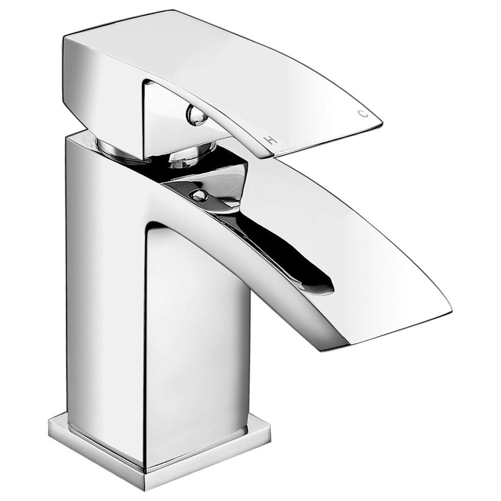 JTP Dash Mini Basin Mixer Tap with Click Clack Waste Single Handle - Chrome