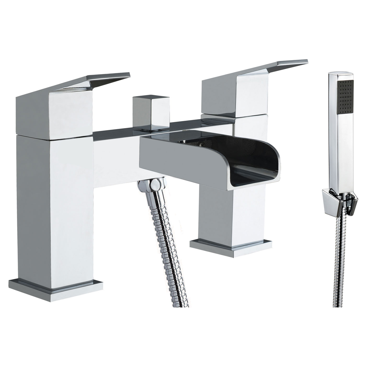 JTP Gleam Deck Mounted Bath Shower Mixer Tap with Kit - Chrome