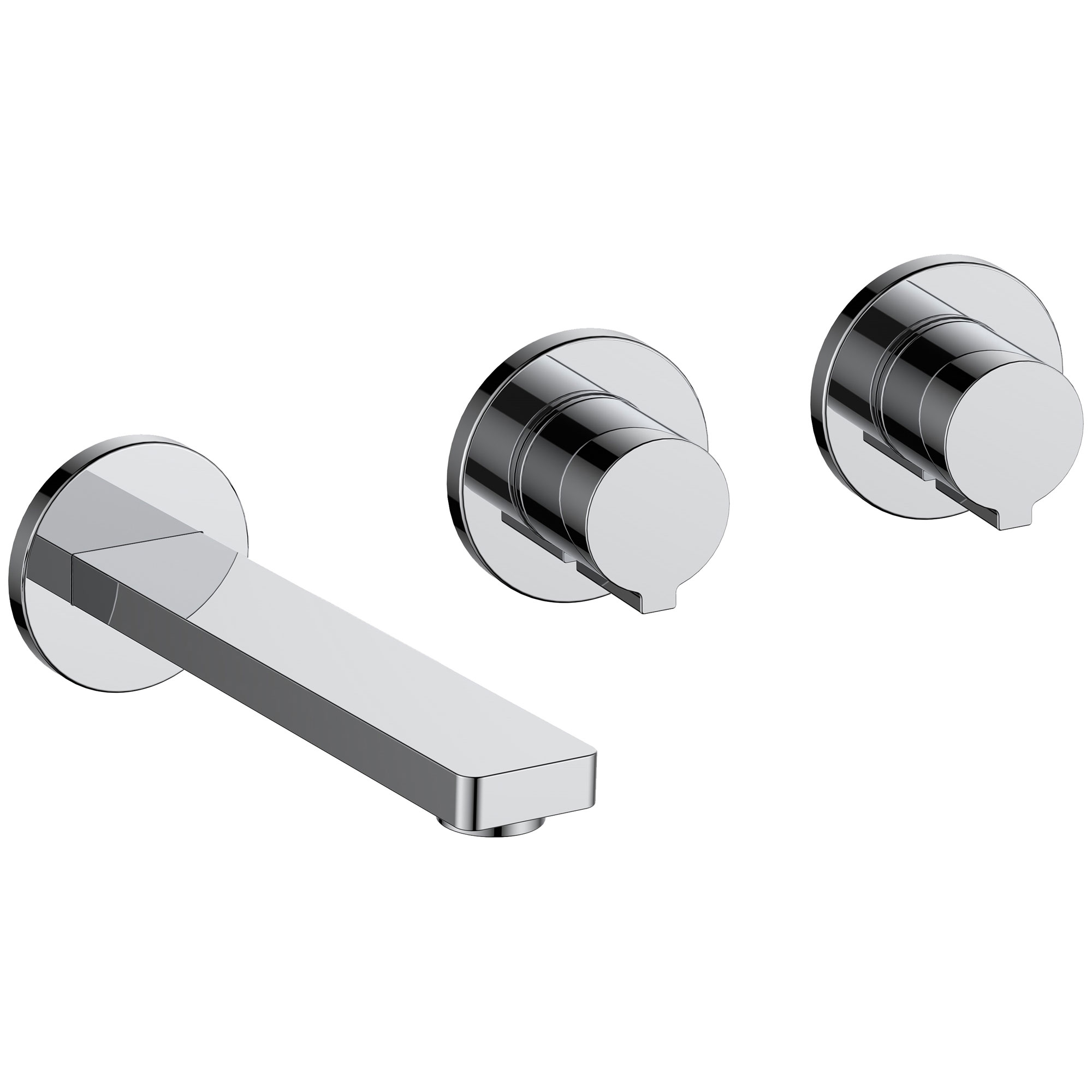 JTP Hugo 3-Hole Wall Mounted Basin Mixer Tap - Chrome