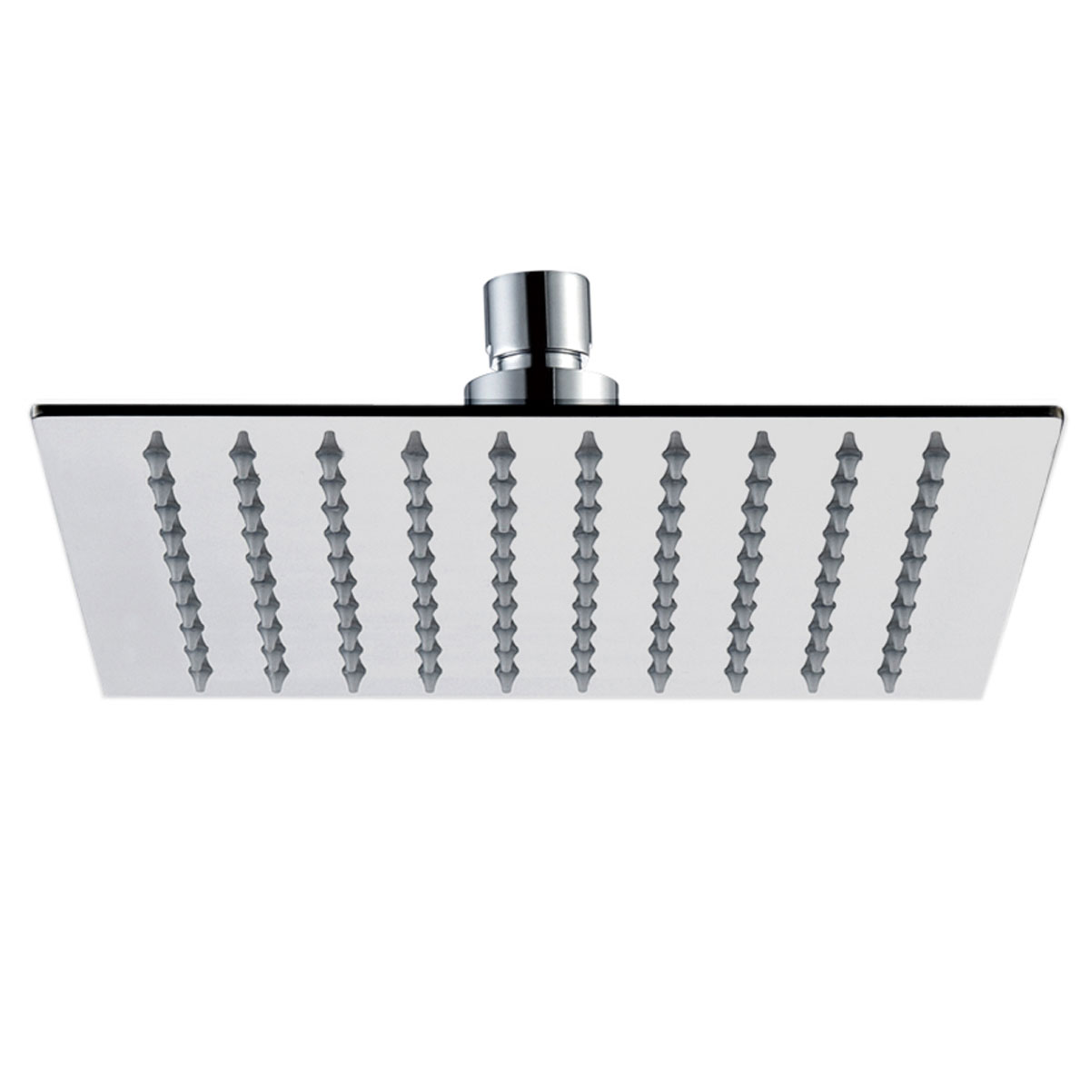 JTP Inox Square Fixed Shower Head 200mm x 200mm - Stainless Steel