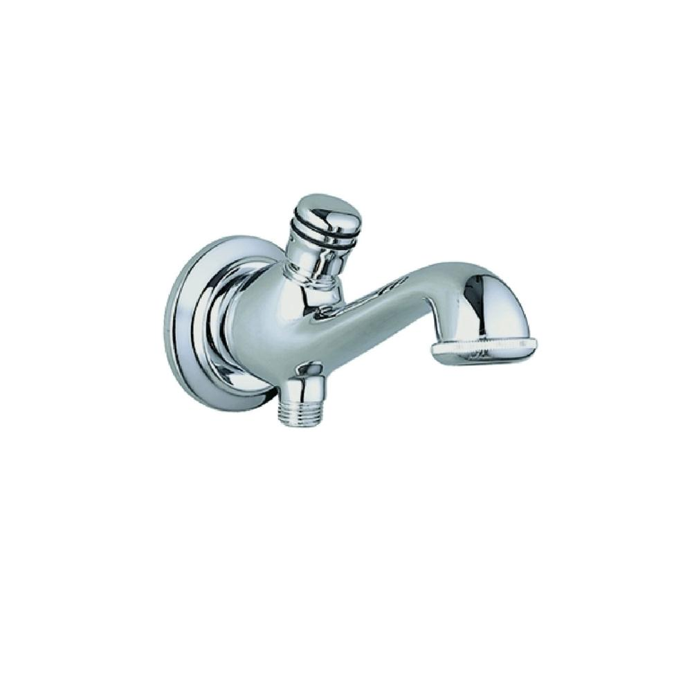JTP Queens Bath Spout with Diverter, Wall Mounted, Chrome