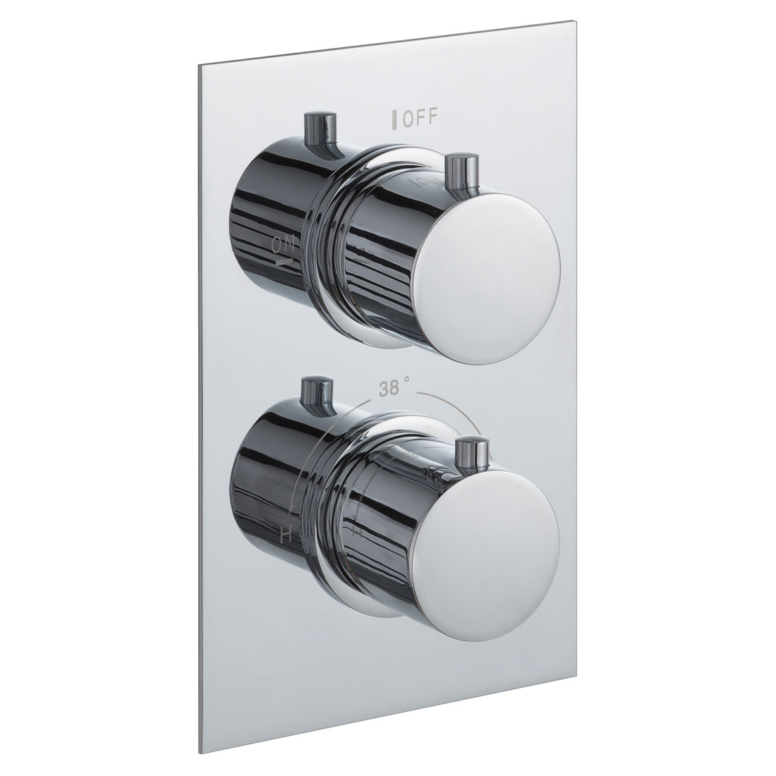 JTP Round Thermostatic Concealed 1 Outlet Shower Valve - Chrome
