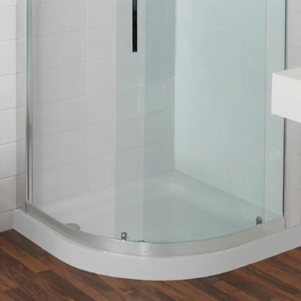 Just Trays JT Ultracast Offset Quadrant Shower Tray 1200mm x 900mm Left Handed Flat Top-0