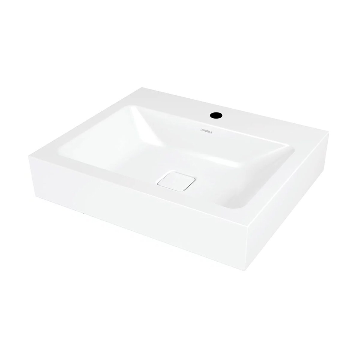 Kaldewei Cono Wall Hung Basin 600mm Wide - 1 Tap Hole