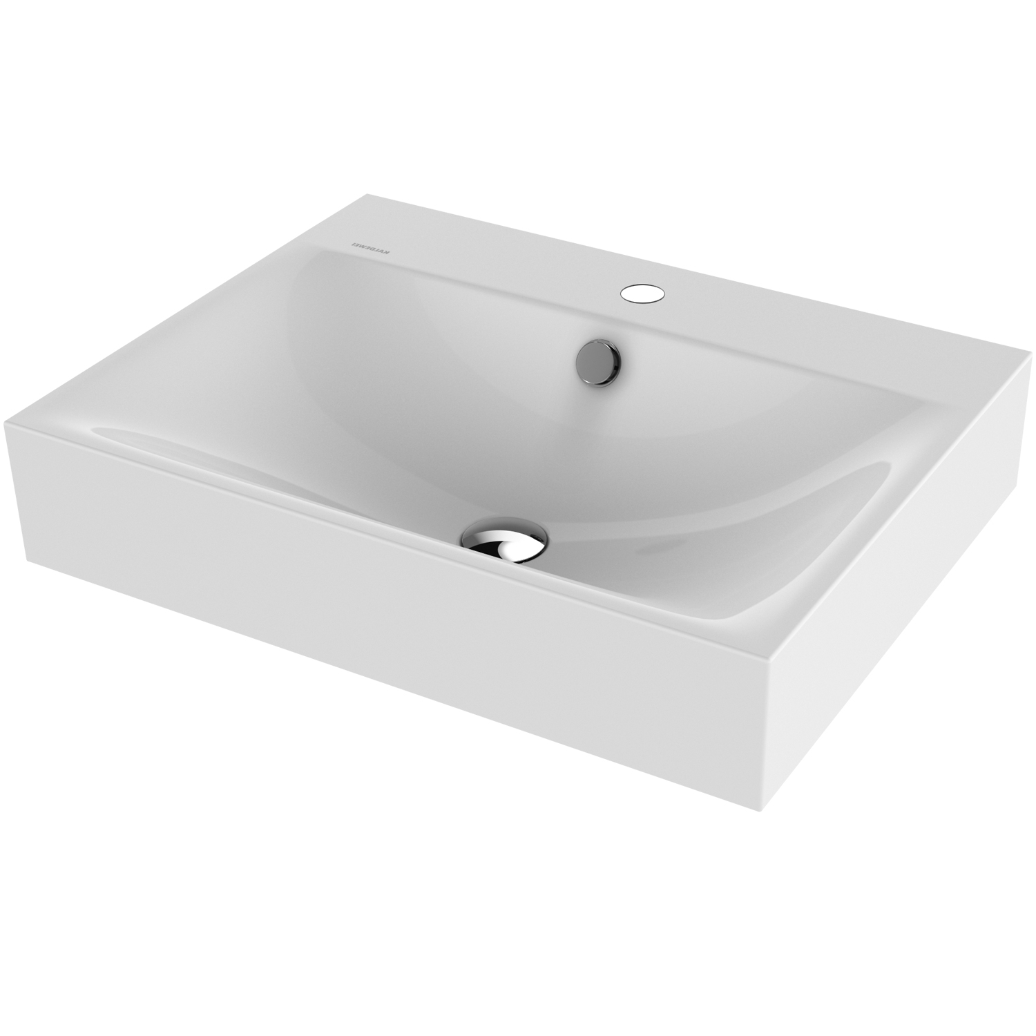 Kaldewei Silenio Wall Hung Basin 600mm Wide - 1 Tap Hole