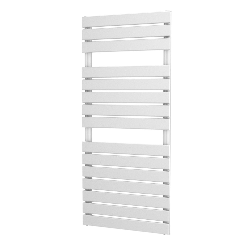 MaxHeat Deshima Vertical Towel Rail, 1156mm High x 500mm Wide, White
