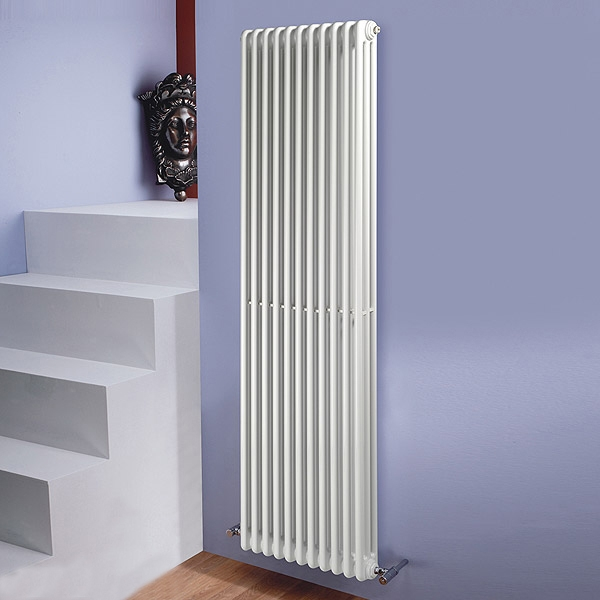 MaxHeat Tubular 3 Column Radiator 1800mm H x 506mm W 11 Sections - White
