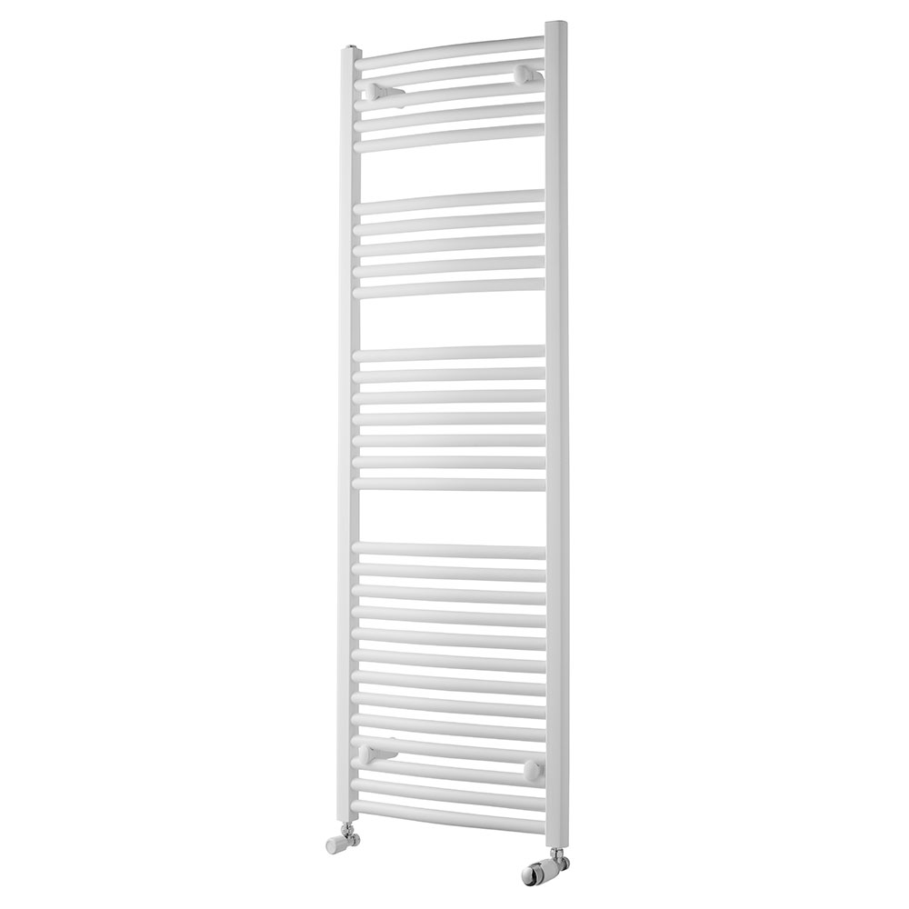 MaxHeat Trade Curved Heated Towel Rail - 1500mm High x 500mm Wide - White