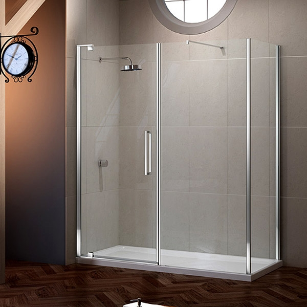 Merlyn 10 Series Inline Pivot Shower Door 1200mm Wide - Clear Glass