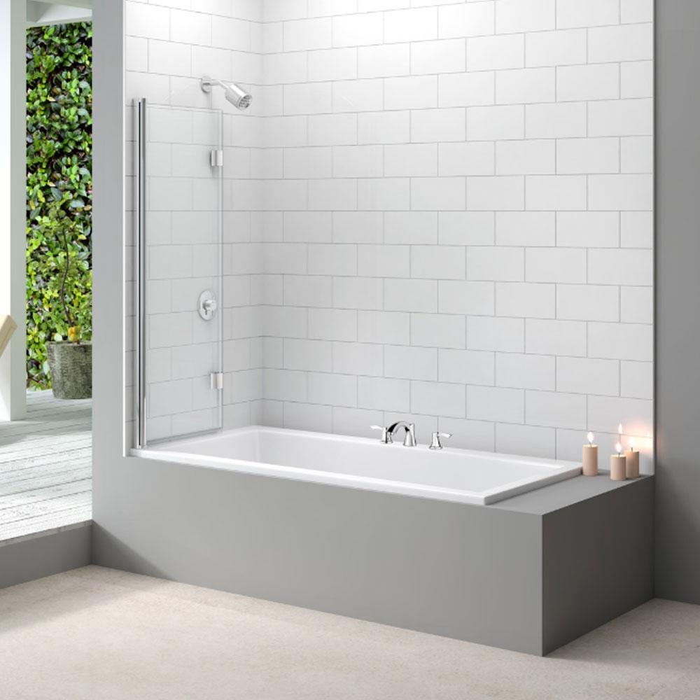 Merlyn Ionic Two Panel Folding Bath Screen, 1100mm x 1500mm, 8mm Glass-0