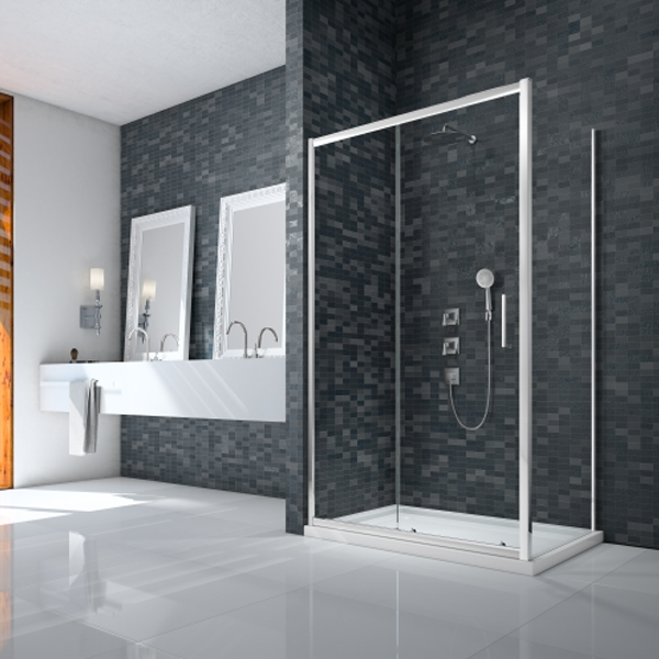 Merlyn Ionic Essence Framed Slider Shower Door 1400mm Wide - 8mm Glass