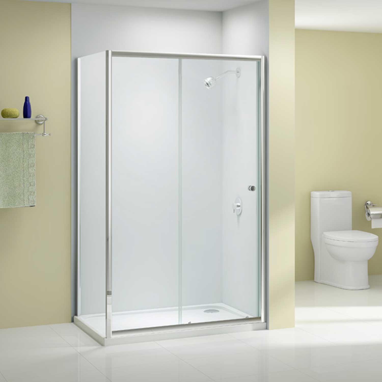 Merlyn Ionic Source Sliding Shower Door 1100mm Wide - 6mm Glass
