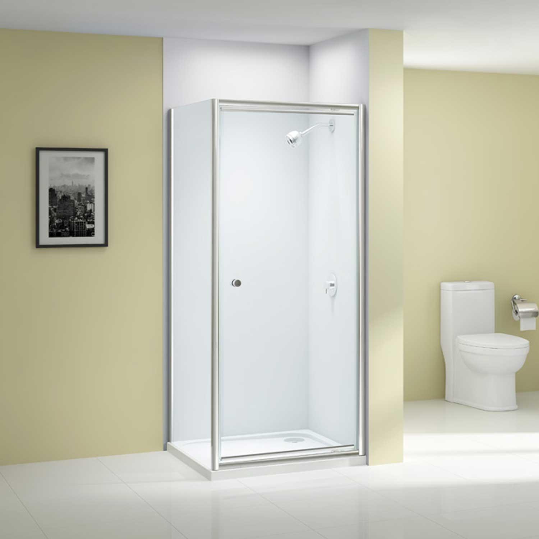 Merlyn Ionic Source Pivot Shower Door 760mm Wide - 6mm Glass