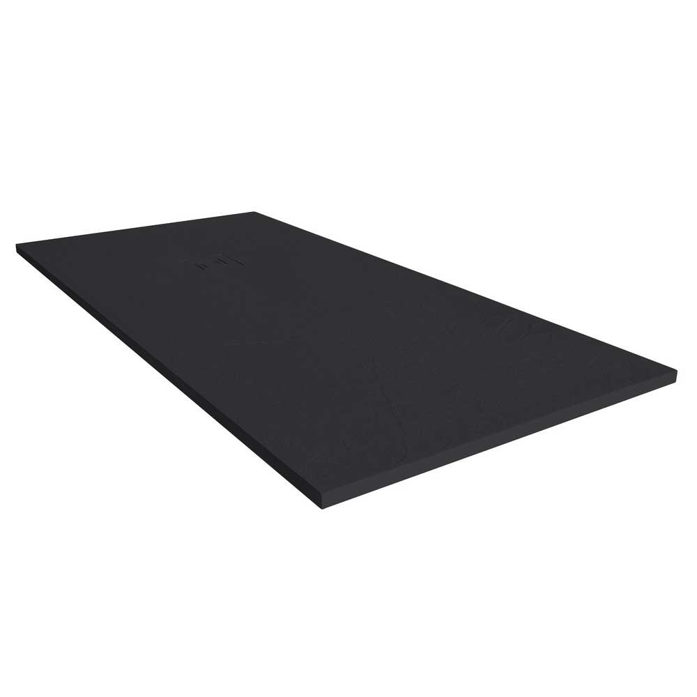 Merlyn TrueStone Rectangular Shower Tray with Waste 1200mm x 800mm - Pure Black