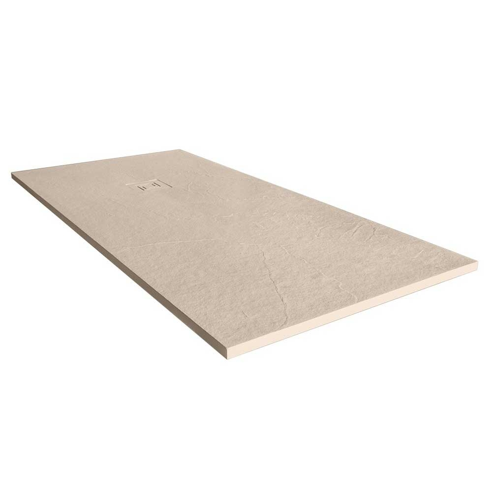 Merlyn TrueStone Rectangular Shower Tray with Waste 1200mm x 800mm - Sandstone
