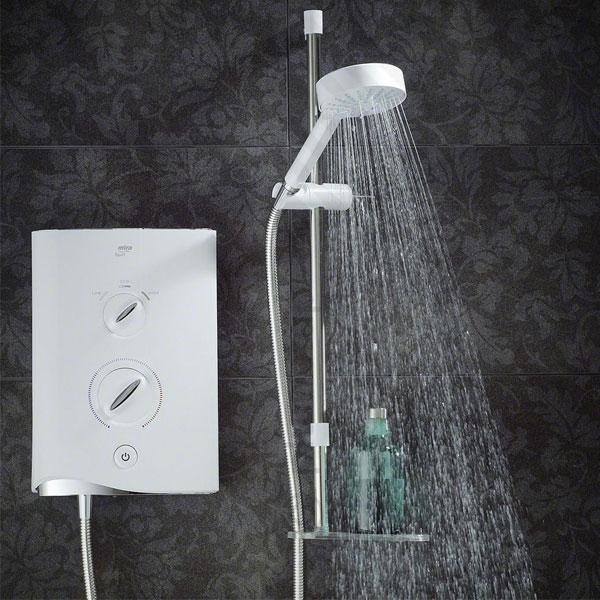 Mira Sport Multi-Fit Electric Shower with Kit and Showerhead, 9.0kW, White/Chrome