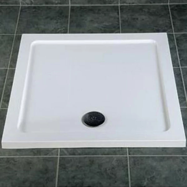 MX DucoStone Square Shower Tray with Waste 700mm x 700mm Flat Top