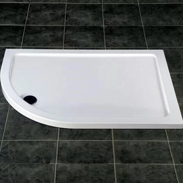 MX DucoStone Offset Quadrant Shower Tray with Waste 900mm x 760mm Left Handed