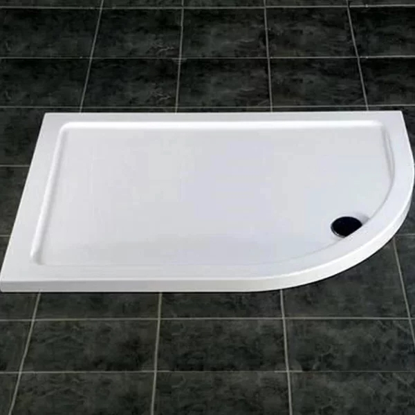 MX DucoStone Offset Quadrant Shower Tray with Waste 900mm x 760mm Right Handed