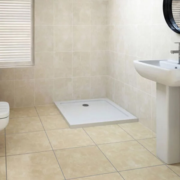 MX Elements Square Shower Tray with Waste 760mm x 760mm Flat Top