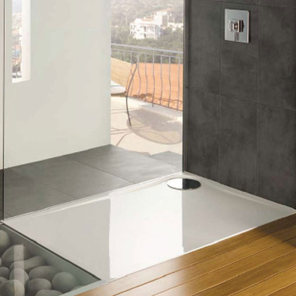 MX Optimum Rectangular Shower Tray with Waste 1200mm x 800mm Left Handed