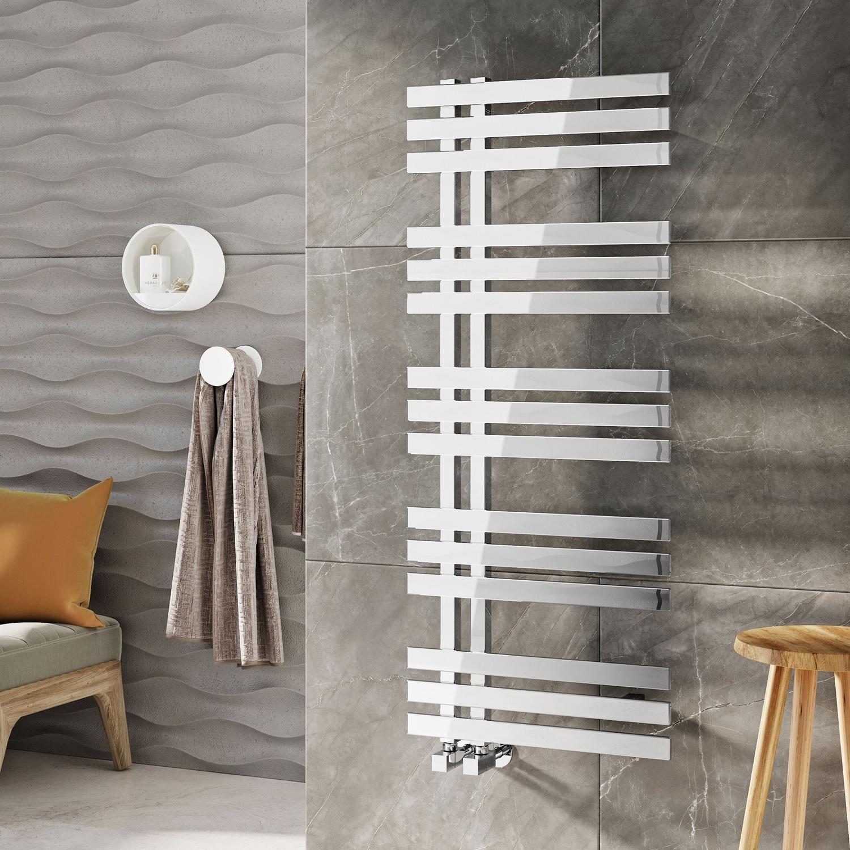 Orbit Luxxus Designer Heated Towel Rail 1200mm H x 500mm W - Chrome