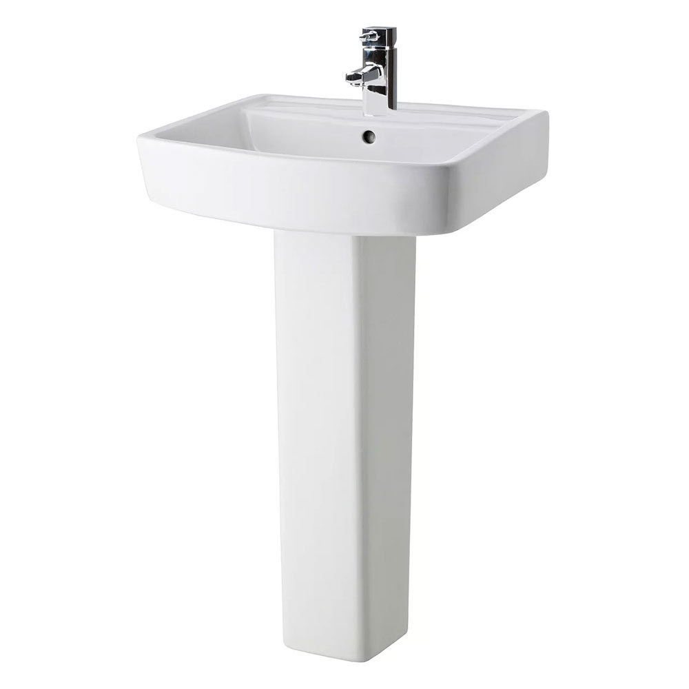 Bliss Complete Bathroom Suite with 1700mm x 735/800mm LH B-Shaped Shower Bath-0