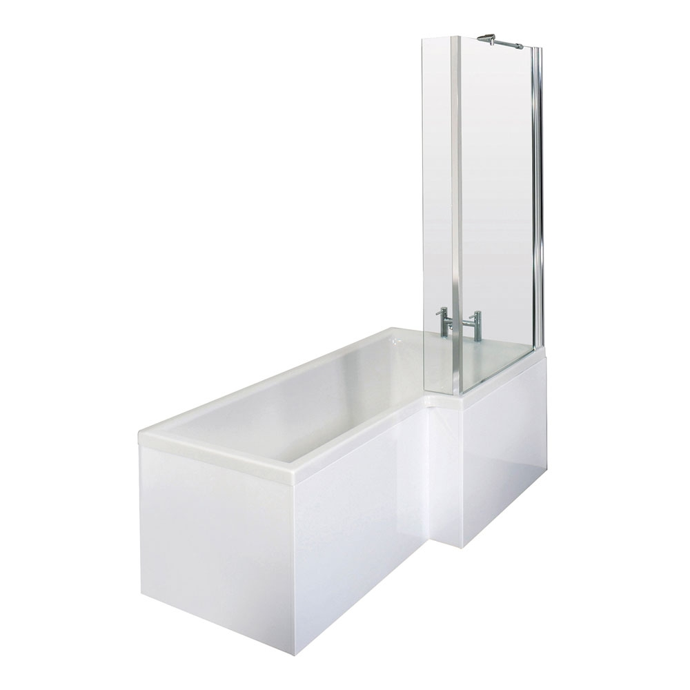 Bliss Complete Bathroom Suite with 1700mm RH L-Shaped Shower Bath and Close Coupled Toilet