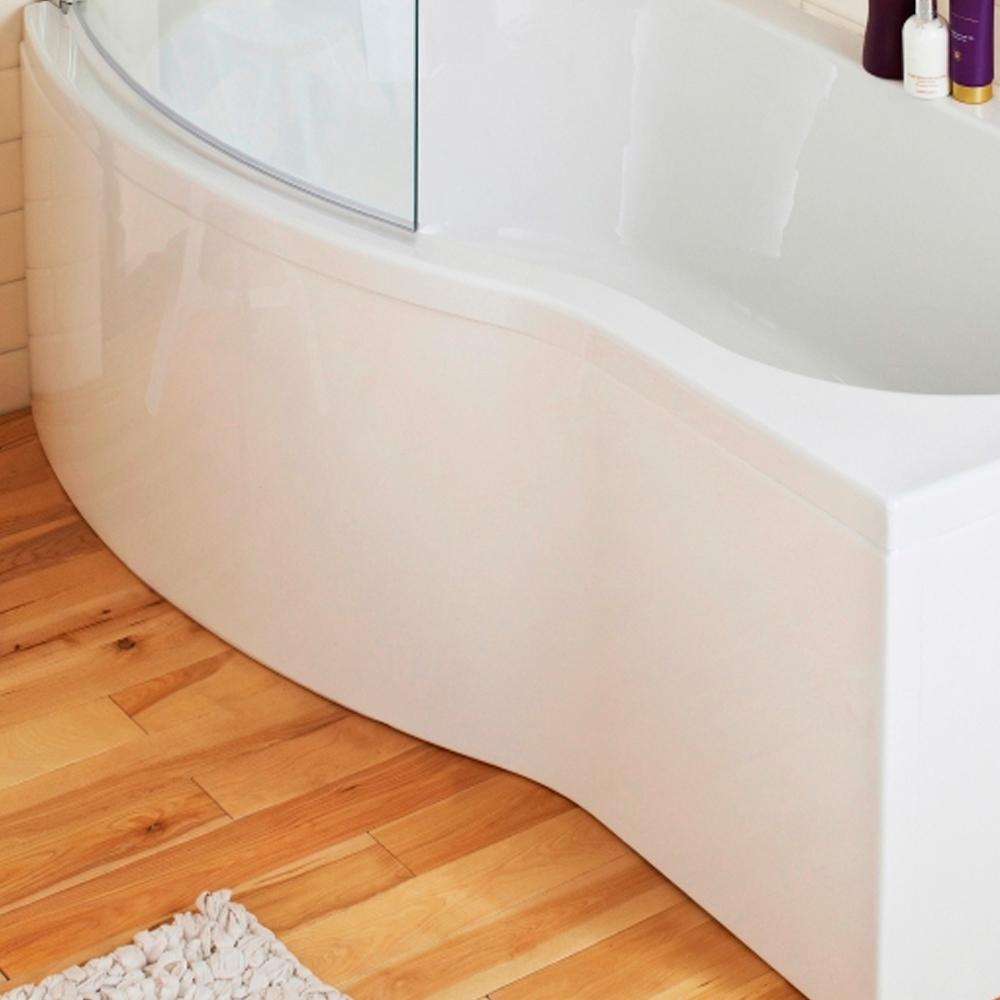 Carmela Modern Complete Bathroom Furniture Suite with B-Shaped Bath 1700mm - Left Handed