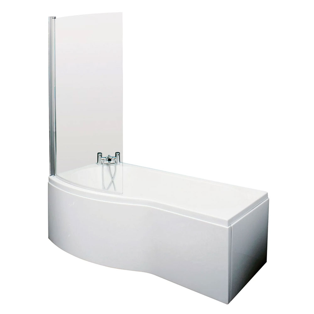 Drayton Complete Bathroom Suite with 1700mm x 735mm/800mm LH B-Shaped Shower Bath