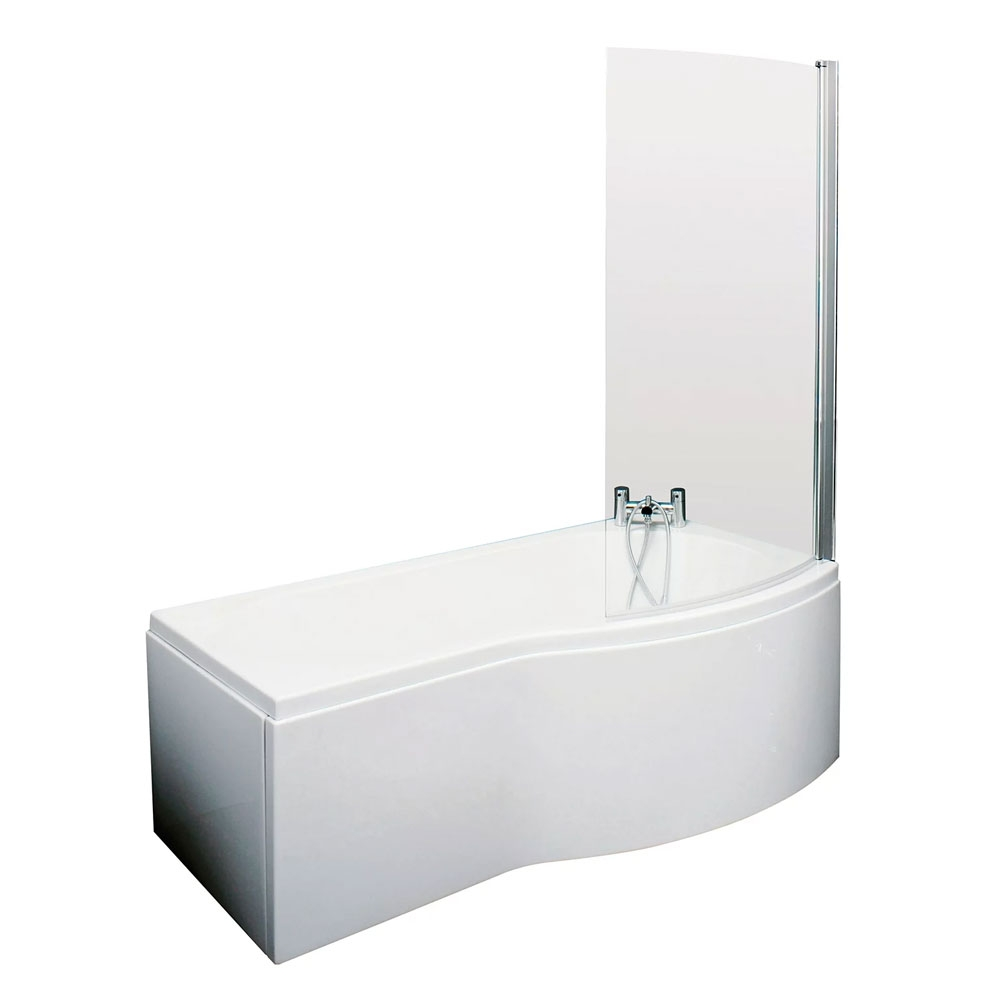 Drayton Complete Bathroom Suite with 1700mm x 735mm/800mm RH B-Shaped Shower Bath-1