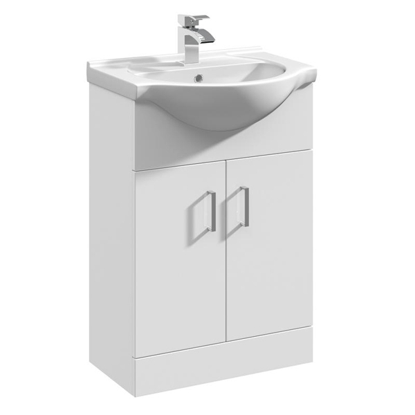 Linton Modern Complete Bathroom Furniture Suite with Single Ended 1600mm X 700mm Bath