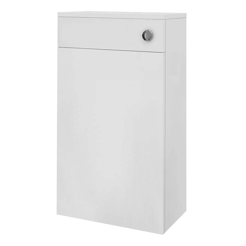 Melbourne Complete Furniture Bathroom Suite with 1700mm x 735/800mm LH B-Shaped Shower Bath