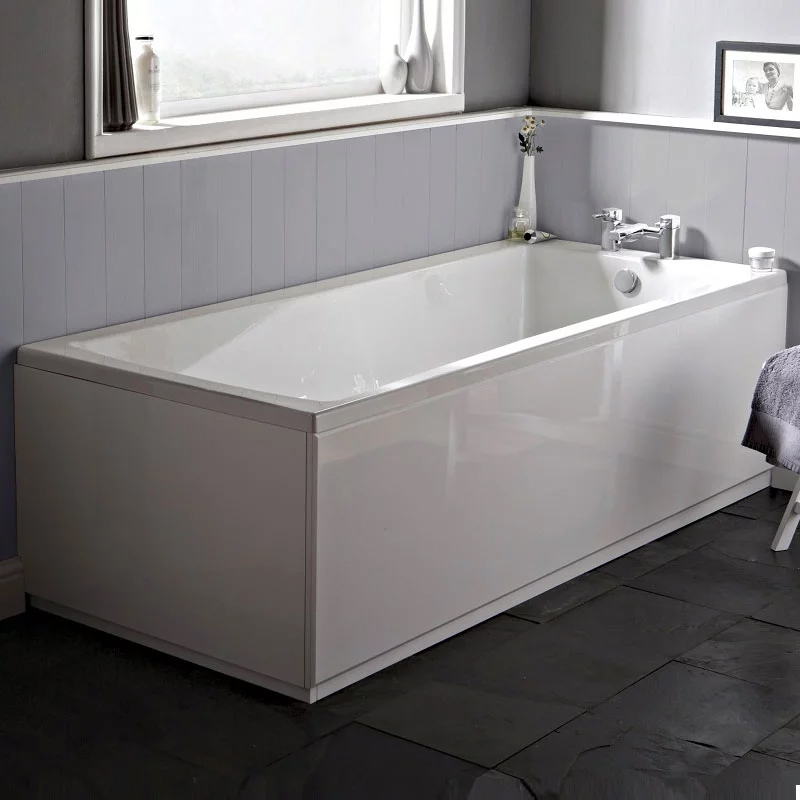 Minimalist Modern Complete Bathroom Furniture Suite with Single Ended 1600mm X 700mm Bath