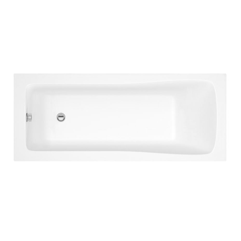 Montego Complete Bathroom Suite with 1700mm x 700mm Square Single Ended Bath